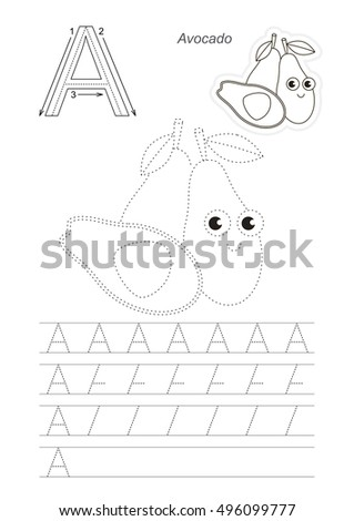 Vector Illustrated Worksheet Preschool Children Learn Stock Vector ...