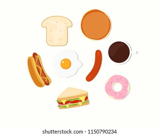 Vector illustratio Breakfast