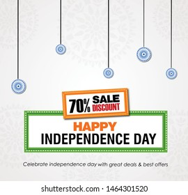 vector illustration of 15th August india Happy Independence Day. 71 years of Freedom india background for 15th August Happy Independence Day of India