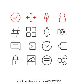 Vector Illustration Of 16 Annex Icons. Editable Pack Of Time, Flash, Closed And Other Elements.