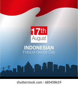 Vector illustration, 17 August, Indonesian Independence Day