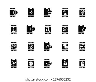 Vector Illustration Of 20 Icons. Editable Pack 2g, Key, Delivery truck, Commerce, Sharing, Email, Music player, Digital clock, Gps, 3g, Gift