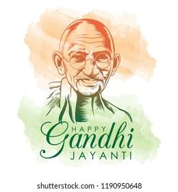 Vector illustration 2nd October mahatma gandhi jayanti indian freedom fighter design for poster, gift card, flyer,etc.