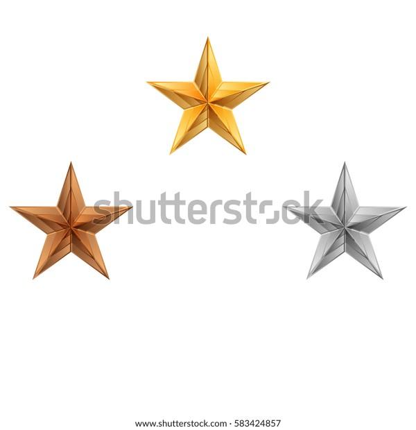 Vector illustration of 3 stars