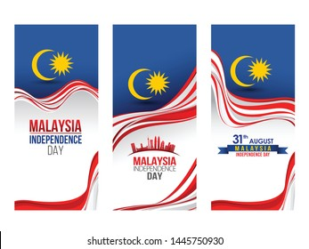 Vector illustration of 31 AUGUST HAPPY INDEPENDENCE DAY and Malaysia flag