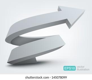 Vector illustration of 3d arrow