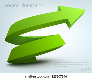 Vector illustration of 3d arrow, logo design