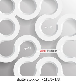 Vector illustration 3d geometrical seamless concept design - eps10