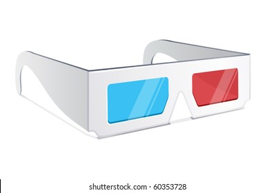 vector illustration of 3d glasses