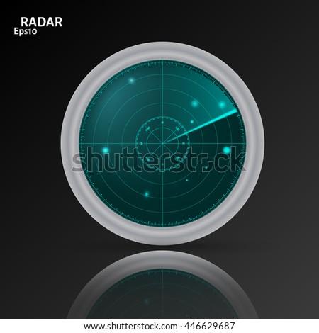 Vector Illustration 3 D Radar Icon On Stock Vektorgrafik Lizenzfrei