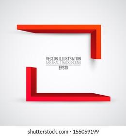 Vector illustration of 3d shapes. Presentation logo