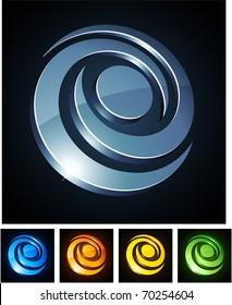 Vector illustration of 3d Swirl symbols.