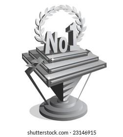 vector illustration of a 3d trophy.