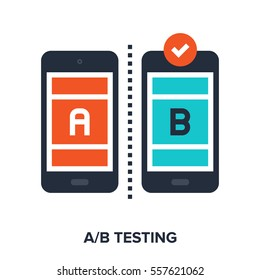 Vector illustration of ab testing flat design concept