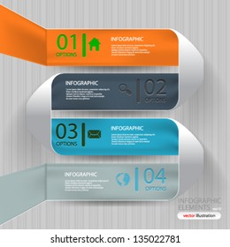 Vector illustration Abstract 3D Paper Infographics - eps10