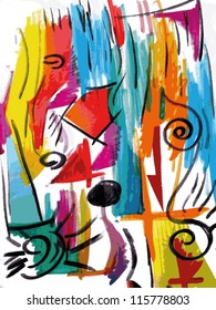 Vector illustration of an abstract aquarelle painting.
