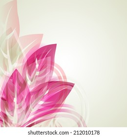 Vector illustration of Abstract artistic Background with red floral element