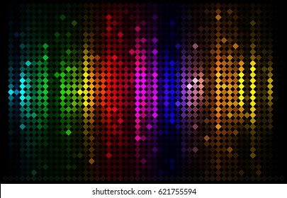 Vector illustration of abstract background with blurred magic lights
