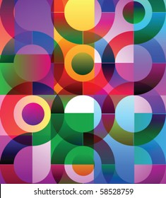 Vector illustration of abstract background with circles