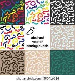 vector illustration / abstract background / colorful lines design set
