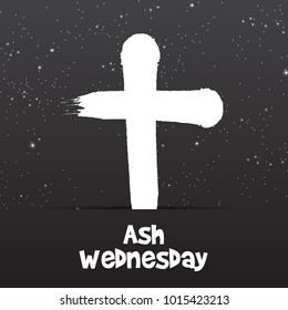 Vector illustration of a Abstract Background with Cross for Ash Wednesday, Lent Season.