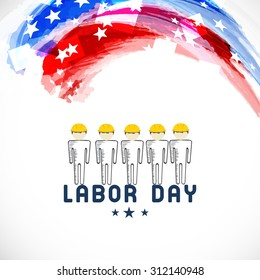 Vector illustration abstract background for Labor Day.