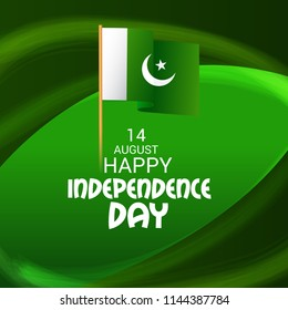 Vector illustration of Abstract Background for Pakistan Independence Day, 14th of August.