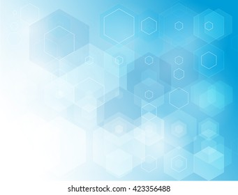 Vector illustration abstract background for your design hexagon,polygon shapes Creative blue Brochure design templates ,corporate business background