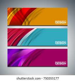 Vector Illustration of Abstract Banner Background for website headers and advertising design
