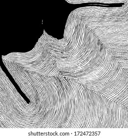 Vector illustration of abstract black & white, greyscale background / pattern. Stripes.