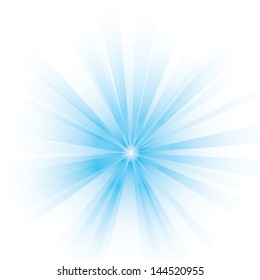 Vector illustration of an abstract blue light.