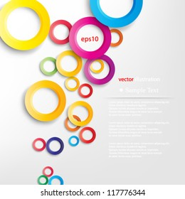 Vector illustration abstract bright colors geometric background with overlapping shadow design - eps10