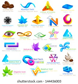 vector illustration of abstract business logo design element
