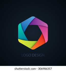 Vector illustration of abstract business logo Photographer.