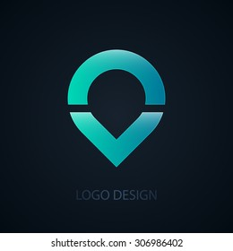 Vector illustration of abstract business logo water.