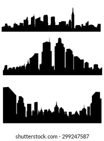 Vector illustration of a abstract city silhouette