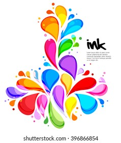 Vector illustration of abstract colorful background with design splash