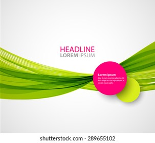 Vector illustration Abstract colorful transparent green  wave.