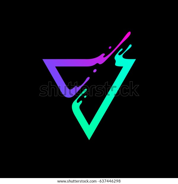 Vector Illustration Abstract Colorful Triangle Dynamic Stock