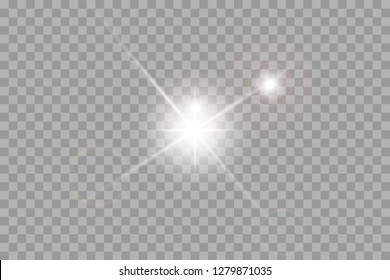 Vector illustration of abstract flare light rays