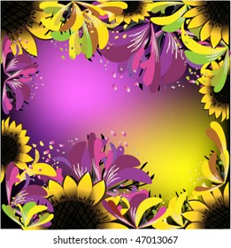 vector illustration of abstract frame