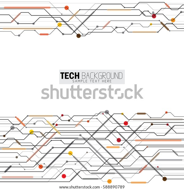 vector illustration abstract futuristic circuit board background. also represents hi-tech computer digital technology concept for your design on white background