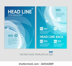 Vector illustration abstract geometric brochure flyer design templates in A4 size
