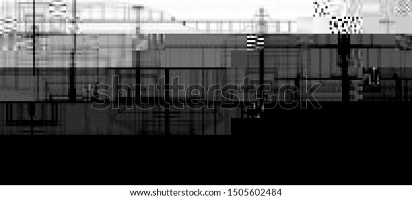 Vector Illustration Abstract Glitch Background Black Stock Vector