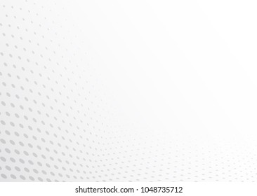 Vector illustration - Abstract grey and white board halftone dot gradient used for background, Template mock up for display of product, layout and presentation business backdrop.