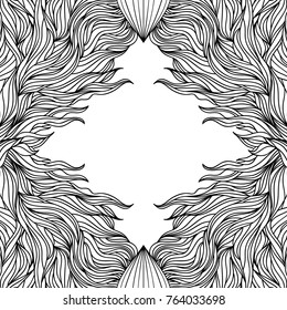 Vector illustration of abstract  hand drawn frame.Abstract background