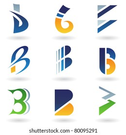 Vector illustration of abstract icons based on the letter B