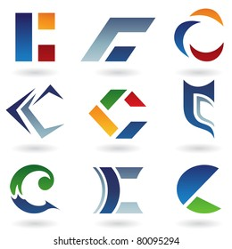 Vector illustration of abstract icons based on the letter C