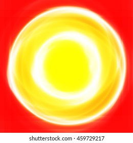 Vector illustration of an abstract red circle background