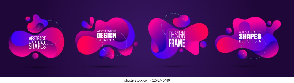 vector illustration abstract shape. colorful creative frames for advertising text, with the effect of imposing. modern graphical design business cards, invitations, gift cards, flyers ,brochures